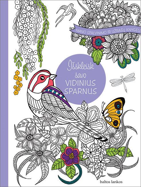 Mano spalvinimo ir užrašų knygelė. Išskleisk savo vidinius sparnu